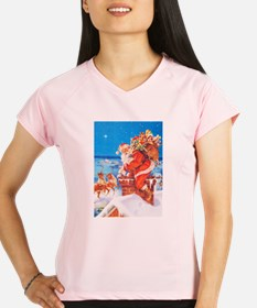 Santa Up On the Rooftop Performance Dry T-Shirt