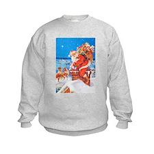 Santa Up On the Rooftop Sweatshirt