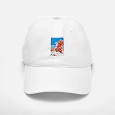 Santa Up On the Rooftop Baseball Baseball Cap