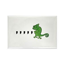Comma Chameleon Rectangle Magnet (100 pack)