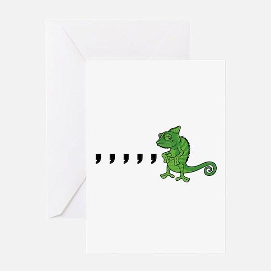 Comma Chameleon Greeting Card