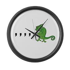 Comma Chameleon Large Wall Clock