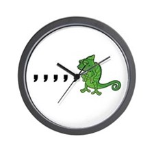 Comma Chameleon Wall Clock