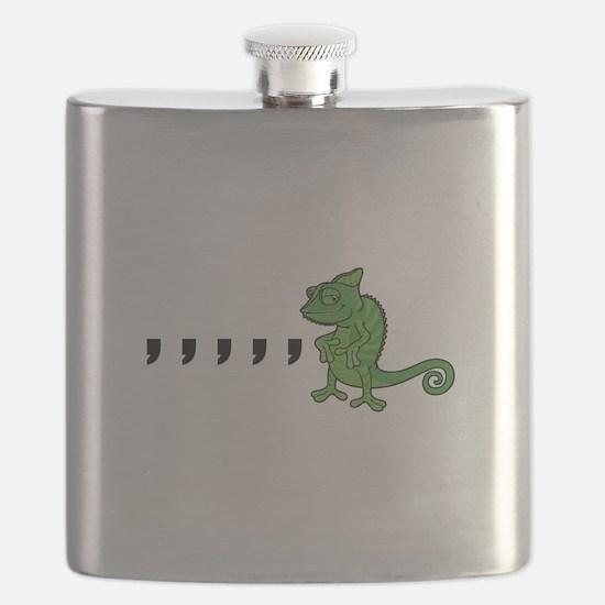 Comma Chameleon Flask