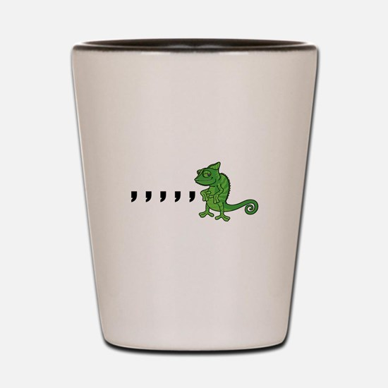 Comma Chameleon Shot Glass