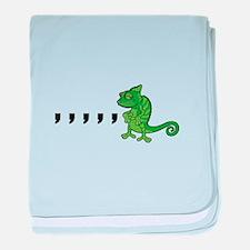 Comma Chameleon baby blanket