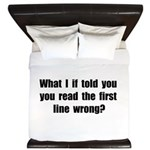 First Line Wrong King Duvet