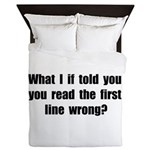 First Line Wrong Queen Duvet