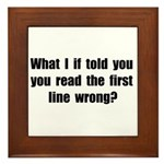 First Line Wrong Framed Tile