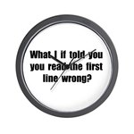 First Line Wrong Wall Clock