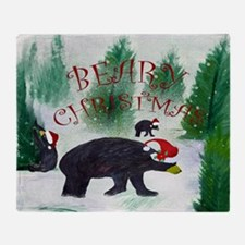 Beary Christmas Throw Blanket