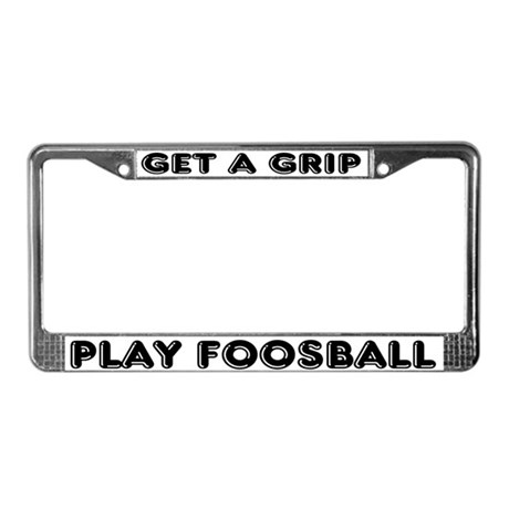 License Plate Frame for foosball players