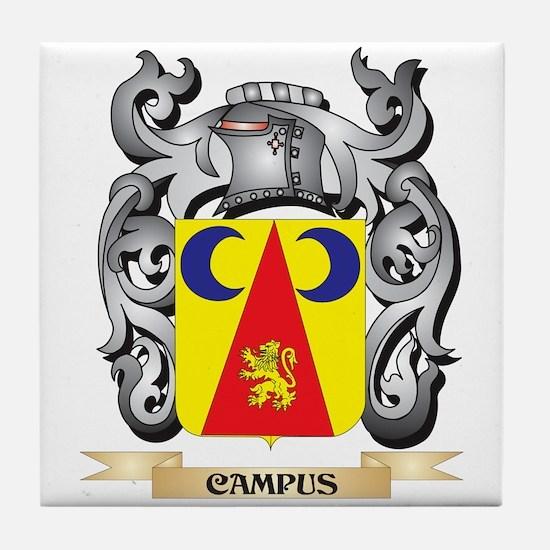 Campus Family Crest - Campus Coat of Tile Coaster