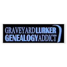 Genealogy Addict Bumper Sticker