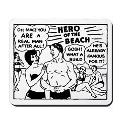 Hero of the Beach Mousepad