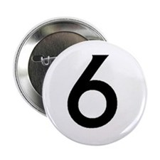 """Number Six 2.25"""" Button"""
