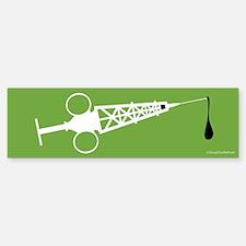 Hypo-Derrick (White/Green) Sticker (Bumper)