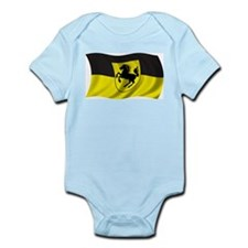 Wavy Stuttgart Flag Infant Creeper