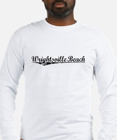 Wrightsville Beach, Vintage Long Sleeve T-Shirt