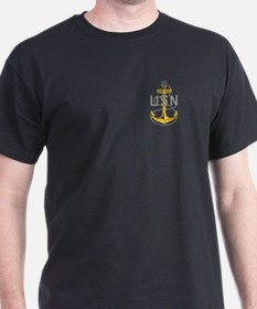Senior Chief Petty Officer<BR> Black T-Shirt 2