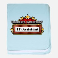 World's Greatest HR Assistant baby blanket