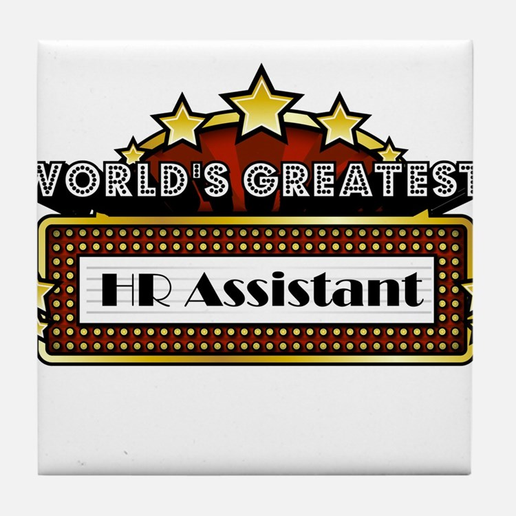 World's Greatest HR Assistant Tile Coaster
