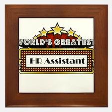 World's Greatest HR Assistant Framed Tile