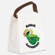 Retired Accountant Gift Canvas Lunch Bag