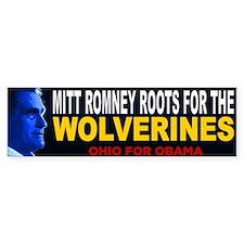 Mitt Romney is a Michigan fan Bumper Sticker