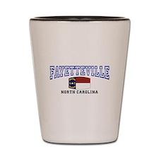 Fayetteville, North Carolina, NC, USA Shot Glass