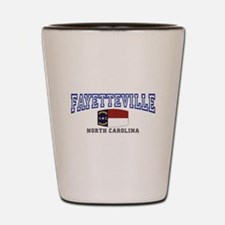 Fayetteville, North Carolina, NC, USA Shot Glass