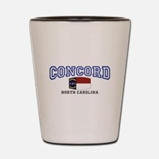 Concord, North Carolina, NC, USA Shot Glass