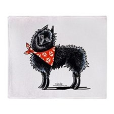 Schipperke Sailboats Throw Blanket