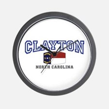 Clayton, North Carolina, NC, USA Wall Clock