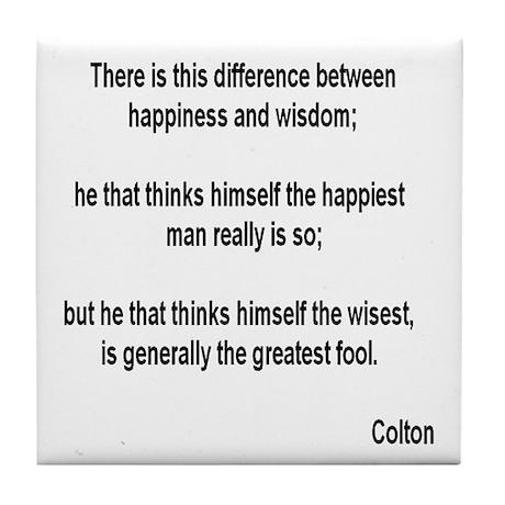 Happiness & Wisdom - Tile Coaster