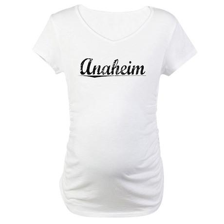 Anaheim, Vintage Maternity T-Shirt