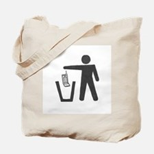 """Anti-Cell Phone - """"Pitch In"""" Tote Bag"""