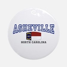 Asheville, North Carolina, NC, USA Ornament (Round