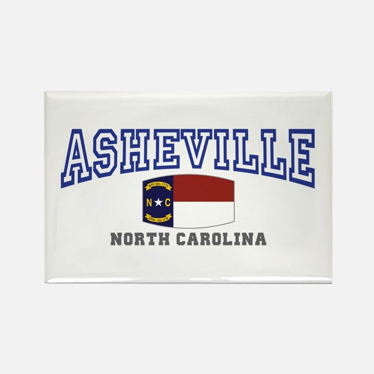 Asheville, North Carolina, NC, USA Rectangle Magne