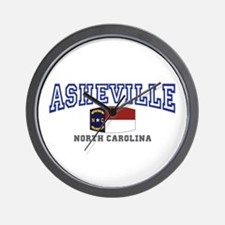 Asheville, North Carolina, NC, USA Wall Clock