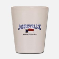 Asheville, North Carolina, NC, USA Shot Glass