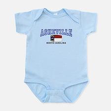 Asheville, North Carolina, NC, USA Infant Bodysuit
