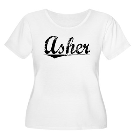 Asher, Vintage Women's Plus Size Scoop Neck T-Shir