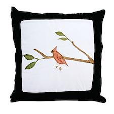 Captive Bird Throw Pillow