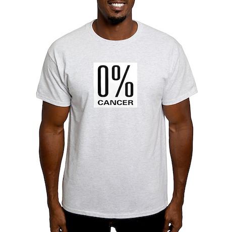0% Cancer Ash Grey T-Shirt