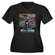 Sharde Thomas Women's Plus Size V-Neck Dark T-Shir