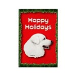 Great Pyrenees Holiday Rectangle Magnet
