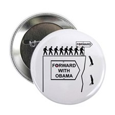 """Forward With Obama 2.25"""" Button"""