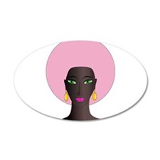Woman with Pink Afro Wall Decal