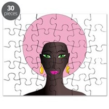 Woman with Pink Afro Puzzle